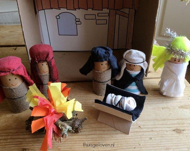 Kleurplaten Kerststal Maken.Een Kerststal Maken Met Kinderen Thuis Geloven Thuis Geloven