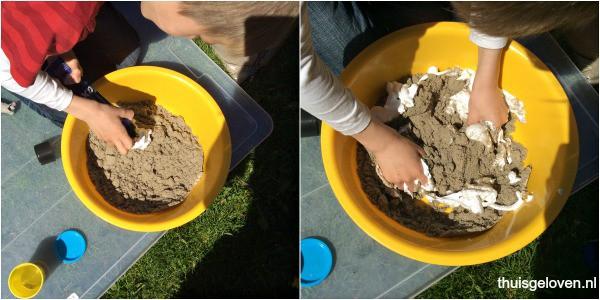 zandfoam maken