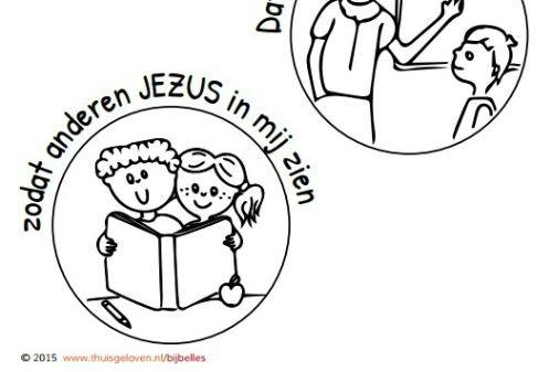 kleurplaat liefde jezus